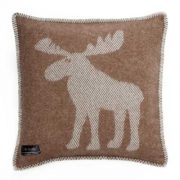 Moose Cushion Cover - Brown & White