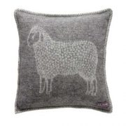 Sheep Cushion Cover Grey