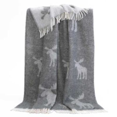 Pure Wool Throw - Moose