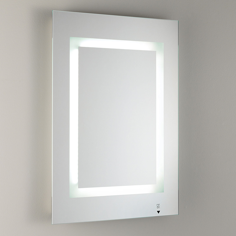 Bathroom Illuminated Mirror With Frosted Glass Furnish Every Season