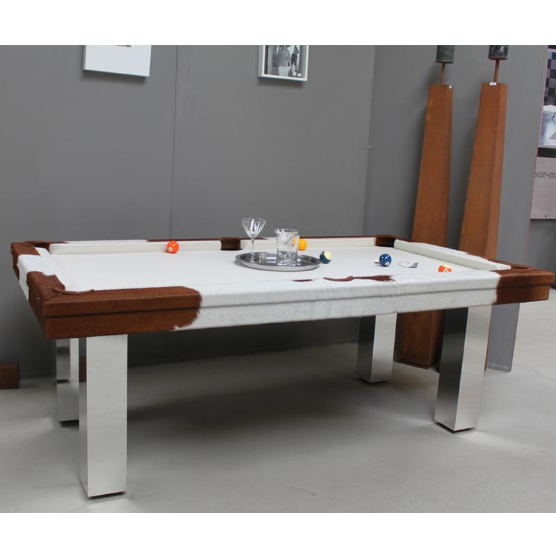 Table Dining Table Home Cow Hide Pool Table Dining Table