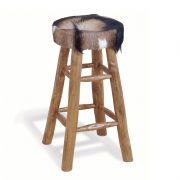 Tall-cowhide-stool