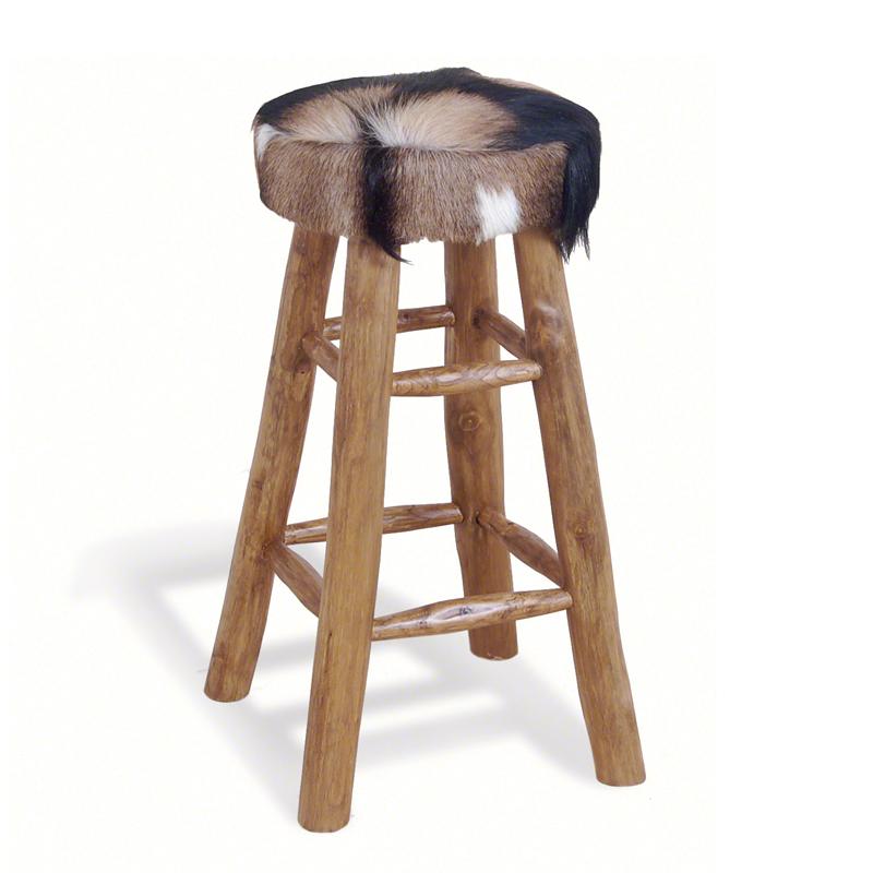 Tall-cowhide-stool