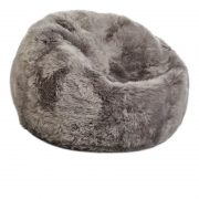 Bean Bag, Long-Wool Premium NZ Sheepskin_Lightgrey