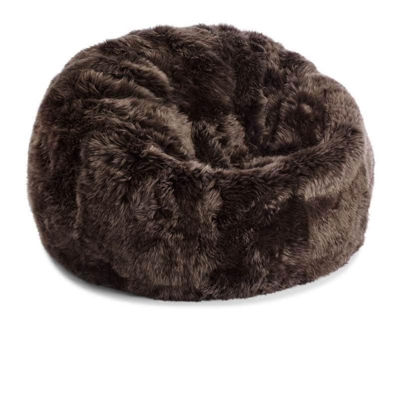 Bean Bag, Long-Wool Premium NZ Sheepskin_Walnut
