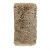 Cushion, Long-Wool NZ Sheepskin, size- 28x56 cm-Taupe_Fotor