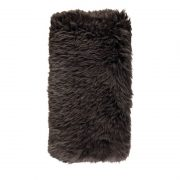 Cushion, Long-Wool NZ Sheepskin, size- 28x56 cm_Walnut