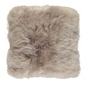 Cushion, Long-Wool NZ Sheepskin, size- 50x50 cm-Dove