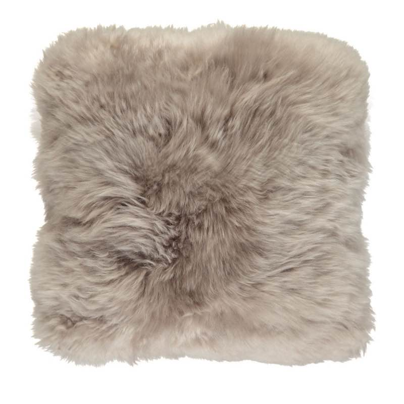 Cushion, Long-Wool NZ Sheepskin, size- 50×50 cm-Dove