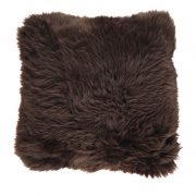Cushion, Long-Wool NZ Sheepskin, size- 50x50 cm_Chocolate