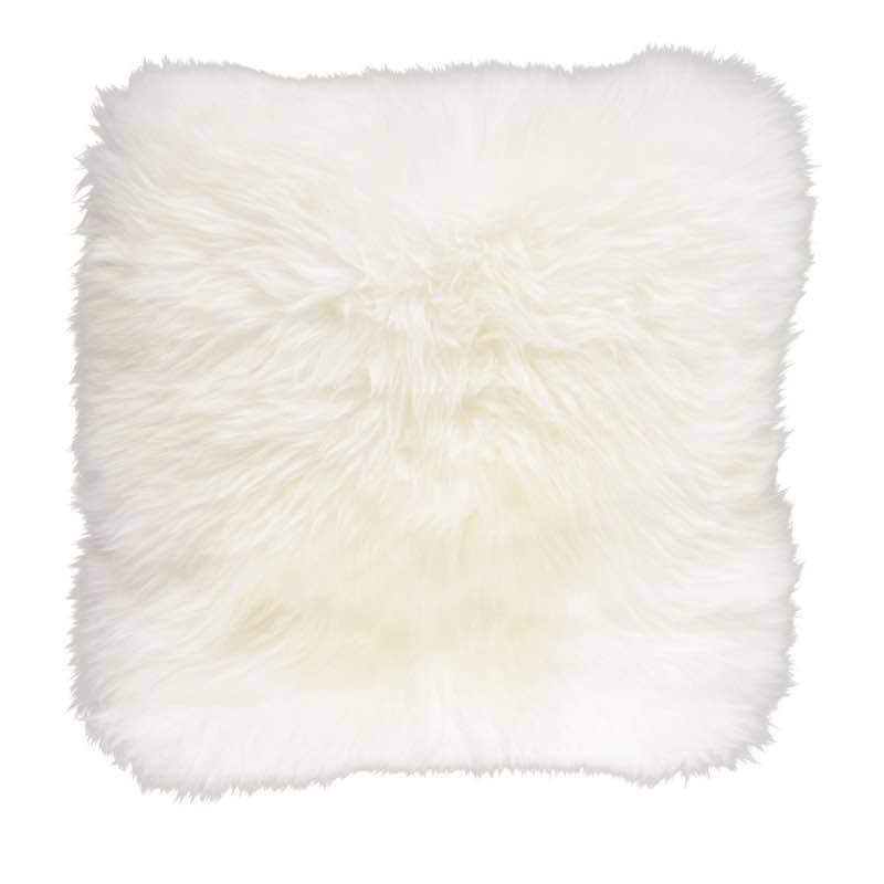 Cushion, Long-Wool NZ Sheepskin, size- 50×50 cm_Ivory