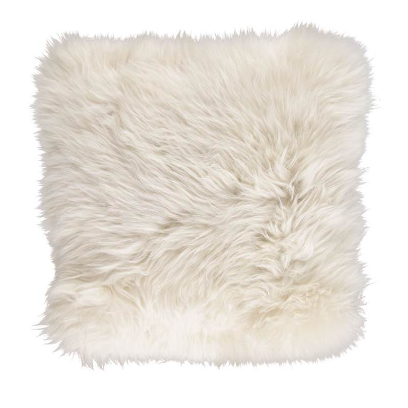 Cushion, Long-Wool NZ Sheepskin, size- 50×50 cm_Linen