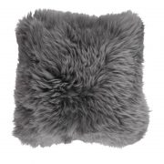 Cushion, Long-Wool NZ Sheepskin, size- 50x50 cm_Steel