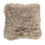 Cushion, Long-Wool NZ Sheepskin, size- 50x50 cm_Taupe