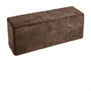 Pouf-Bench of NZ Short-Wool Curly sheepskin, 126x46x40 cm