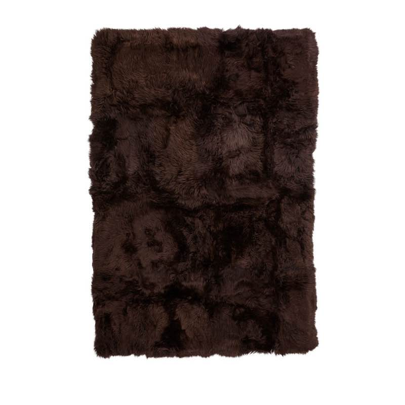 Rug of Premium Quality Sheepskin, Long-Wool,Brown