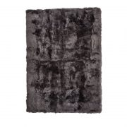 Rug of Premium Quality Sheepskin, Long-Wool,Steel