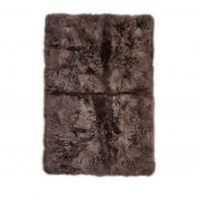 Rug of Premium Quality Sheepskin, Long-Wool,Walnut
