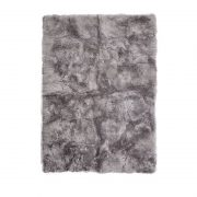 Rug of Premium Quality Sheepskin, Long-Wool,lightgrey