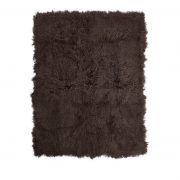 Sheepskin throw-Taupe