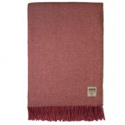 Cotton:Wool Red Throw