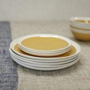 Chamois Mustard Plates