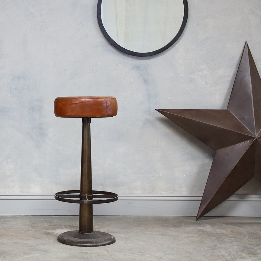 Leather Bar Stool1