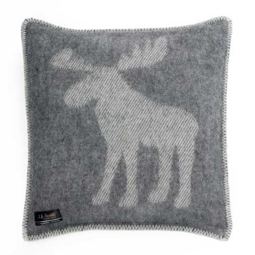 Moose Cushion Cover – Grey & White