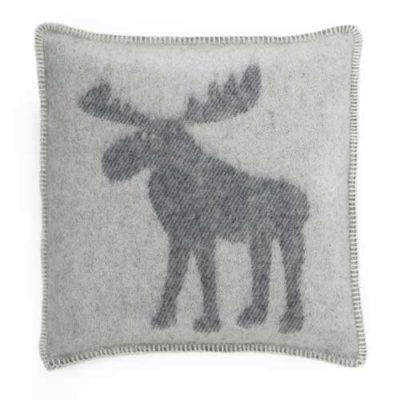 Moose Cushion Cover - White & Grey