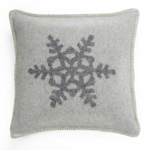 Snowflake Cushion Cover Grey & White