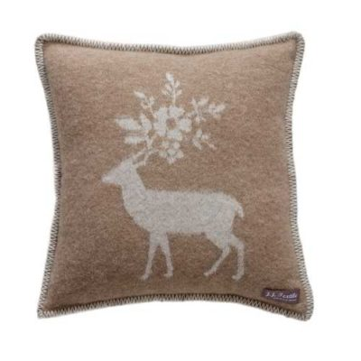 Stag Cushion Cover Brown