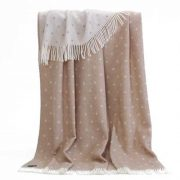 Pure Wool Throw Pink Spotty