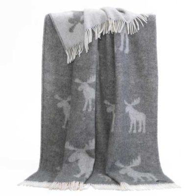 Pure Wool Throw - Moose