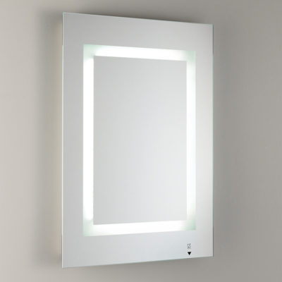 Bathroom Illuminated Mirror With Frosted Glass