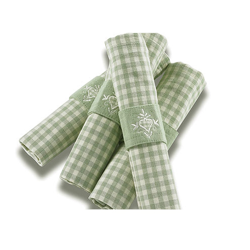 Gingham-duckegggreen
