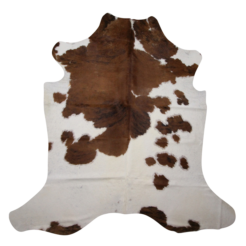 Brown-and-white-cowhide