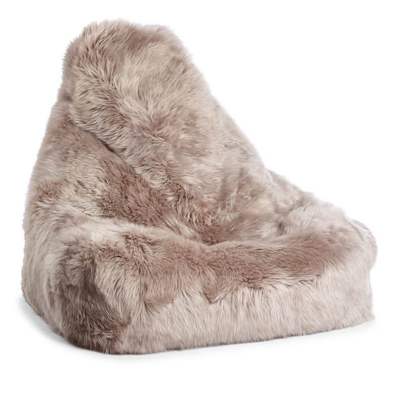 Long Wool Sheepskin Beanbag Chair Furnish Every Season
