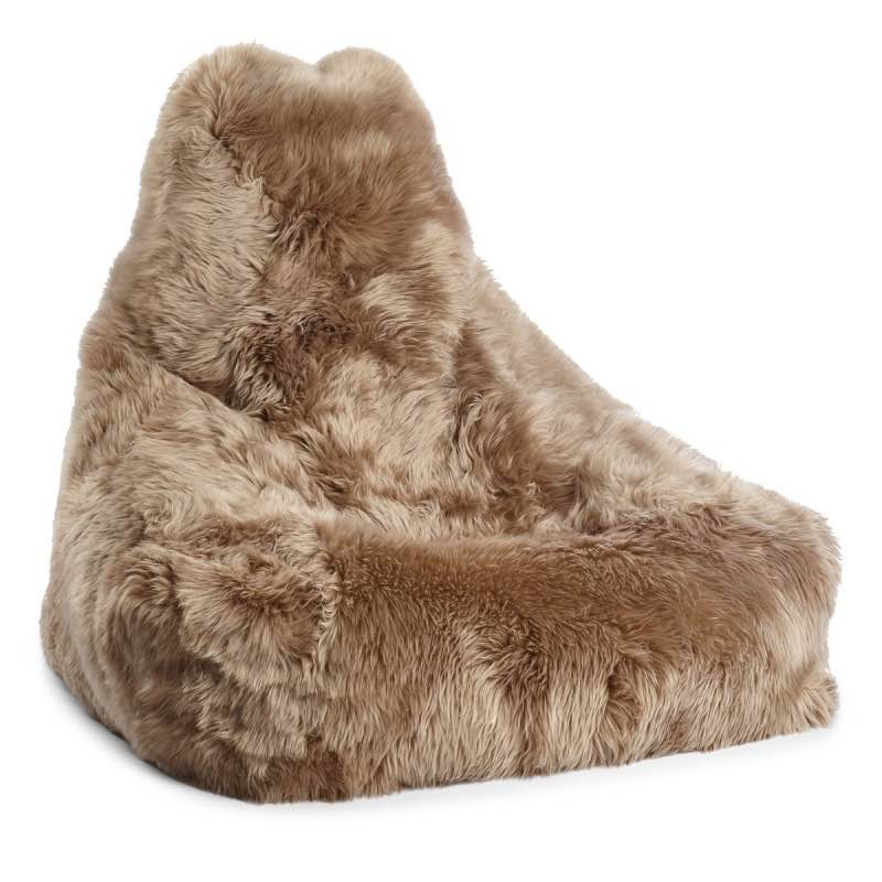 Bean Bag Chair Sheepskin_Taupe