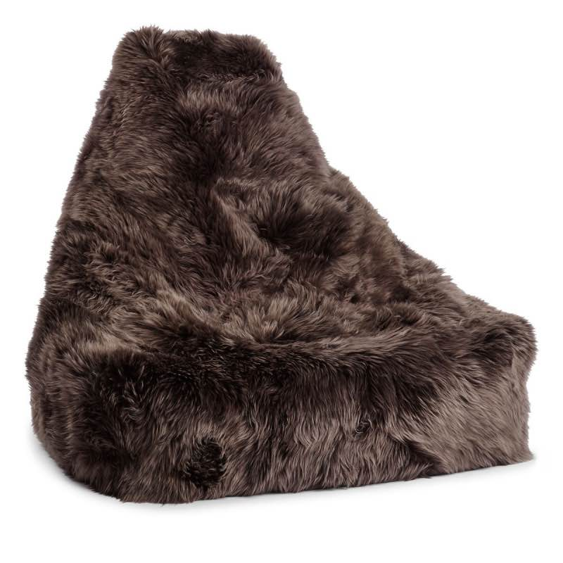 Bean Bag Chair Sheepskin_Walnut