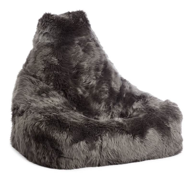 Bean Bag Chair Sheepskin_steel