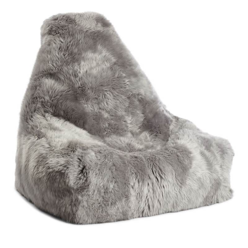 Remarkable Long Wool Sheepskin Beanbag Chair Ibusinesslaw Wood Chair Design Ideas Ibusinesslaworg
