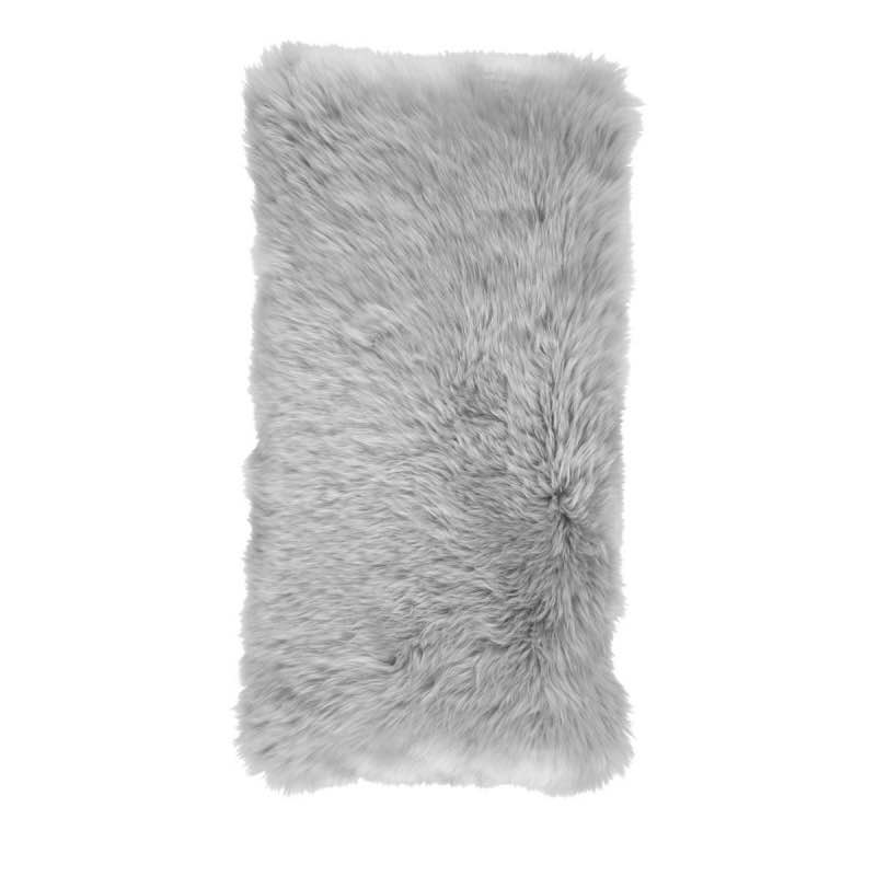 Cushion, Long-Wool NZ Sheepskin, size- 28×56 cm_Lightgrey