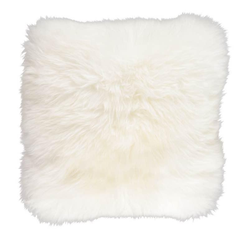 Cushion, Long-Wool NZ Sheepskin, size- 50×50 cm_Ivory