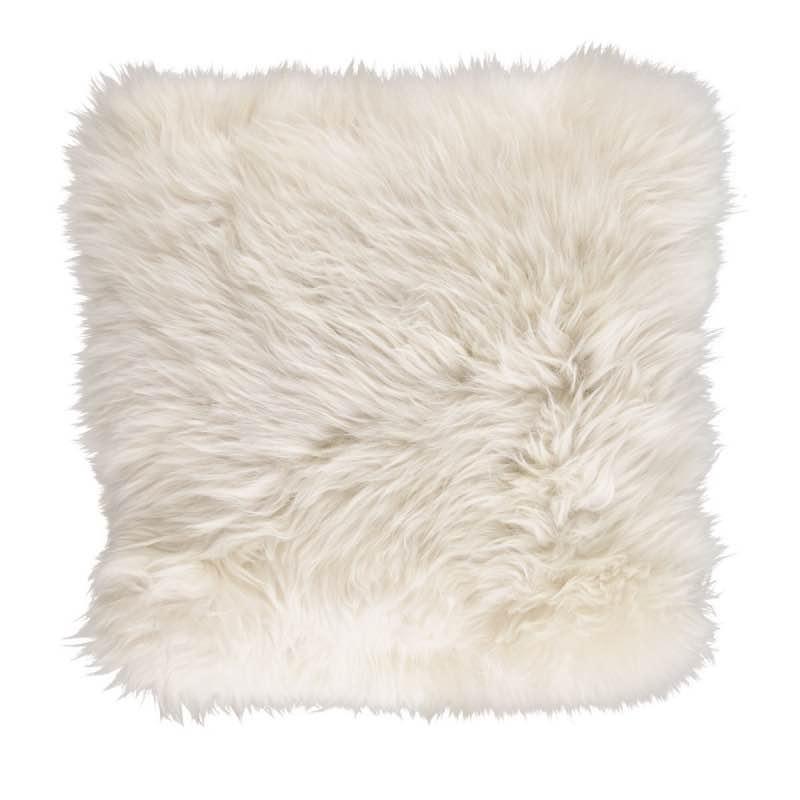 Cushion, Long-Wool NZ Sheepskin, size- 50×50 cm_Linen
