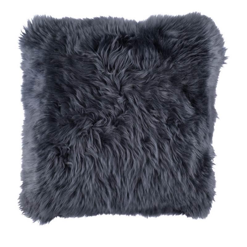 Cushion, Long-Wool NZ Sheepskin, size- 50×50 cm_Navy