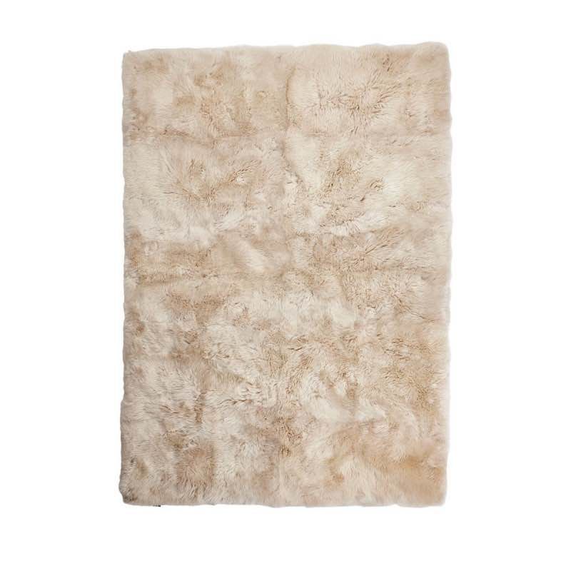 Rug of Premium Quality Sheepskin, Long-Wool,Linen