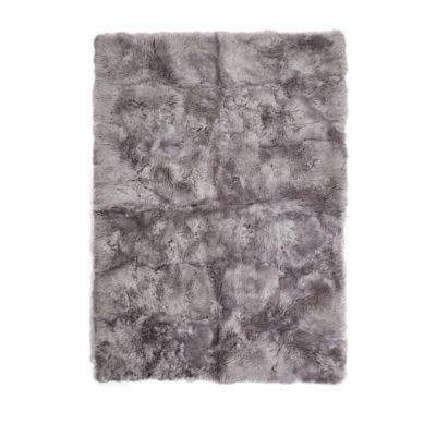 Rug of Premium Quality Sheepskin, Long-Wool,lightgrey