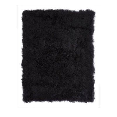 Sheepskin throw-Black