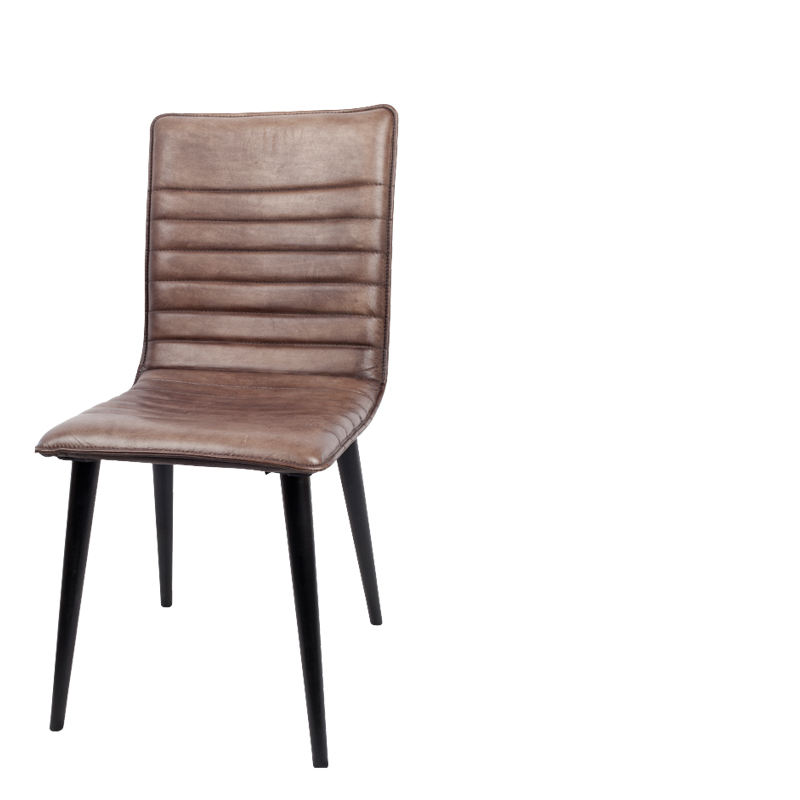364dcd43839b Home   Dining Chairs   Albert Leather Dining Chair (Gun Metal) Set of 2
