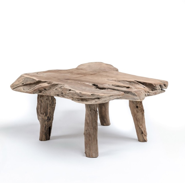 Natura Root Round Coffee Table Condo Size: Natural Root Coffee Table